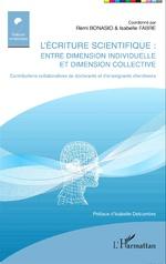 publication L'écriture scientifique entre dimensionindividuelle et dimension collective